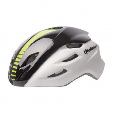 Aero R. - Casco de Bicicleta para Ciclismo Blanco y Negro - Talla M