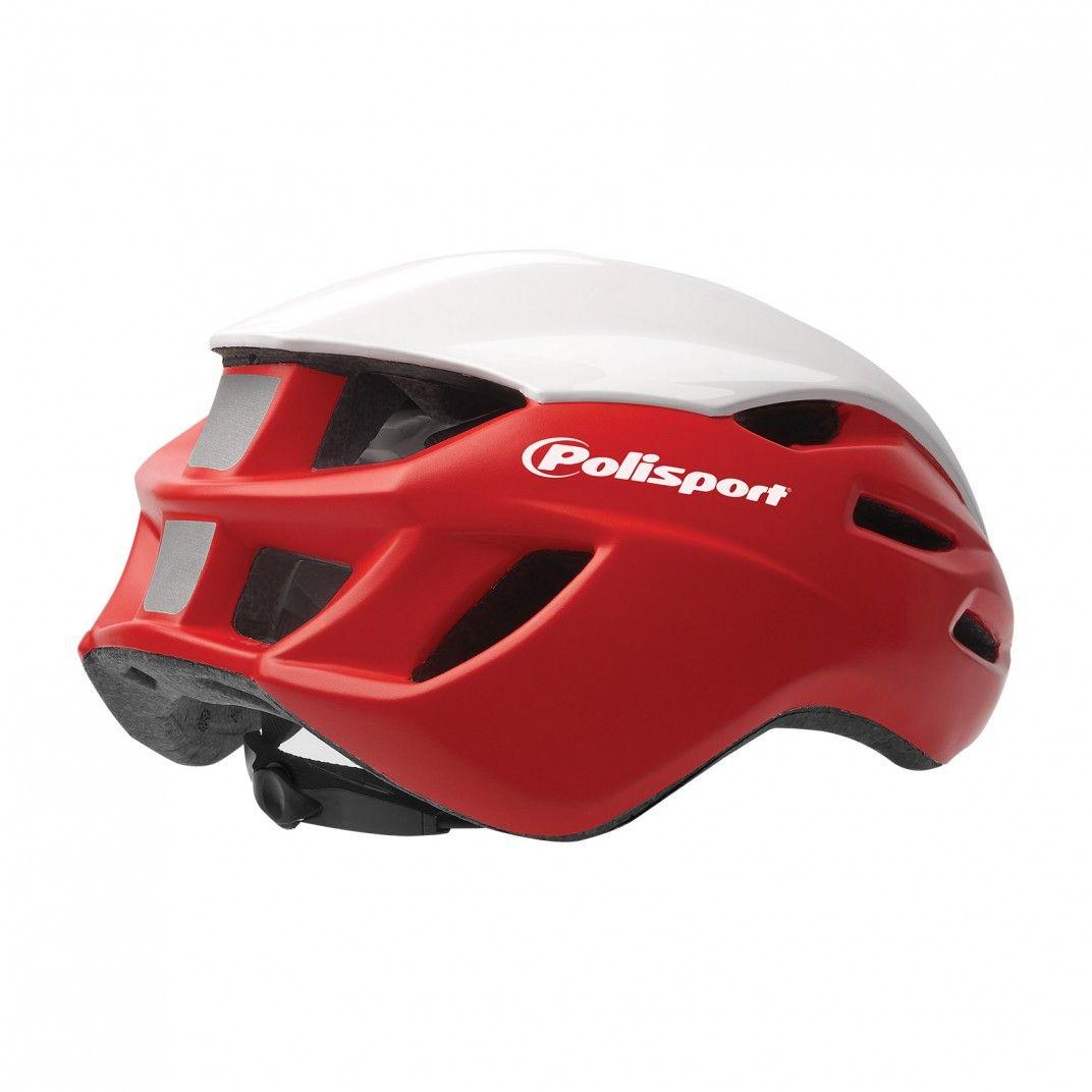 Aero R. - Fahrradhelm für Straßenradfahren Rot und Weiss - Größe M