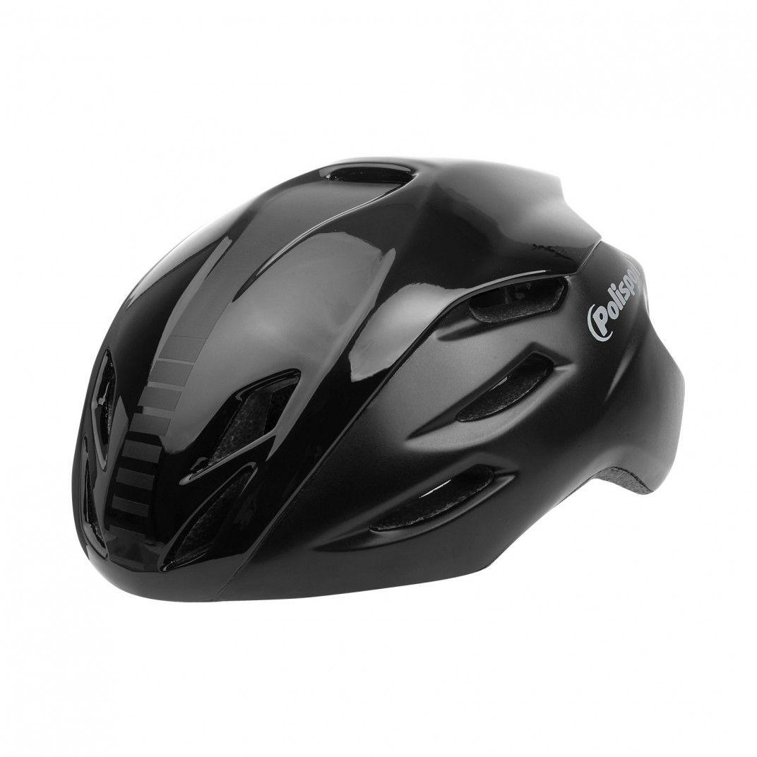 Aero R. - Fahrradhelm für Straßenradfahren Schwarz - Größe L