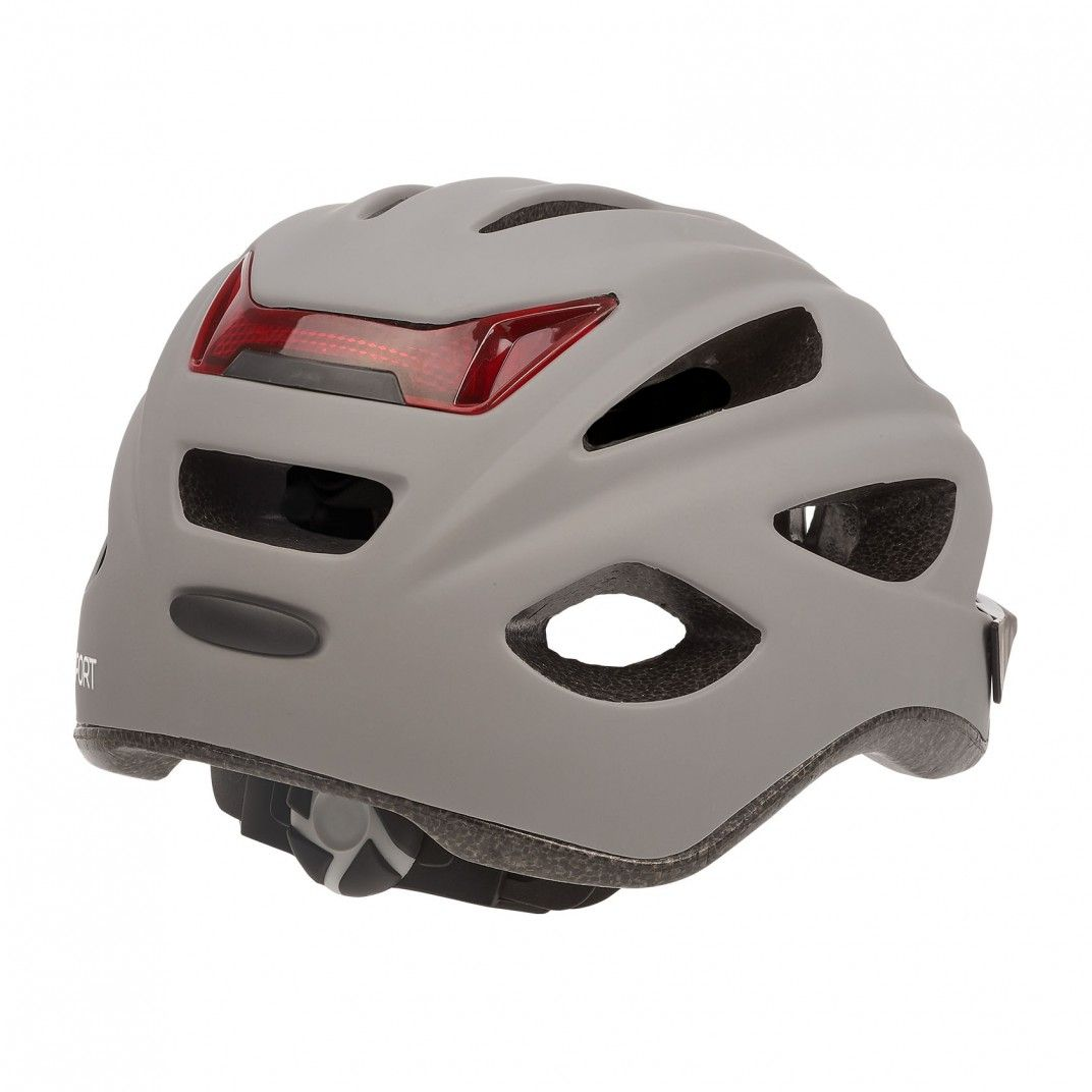City'Go - City Helmet with Rear Led Light Charcoal Grey - M Size