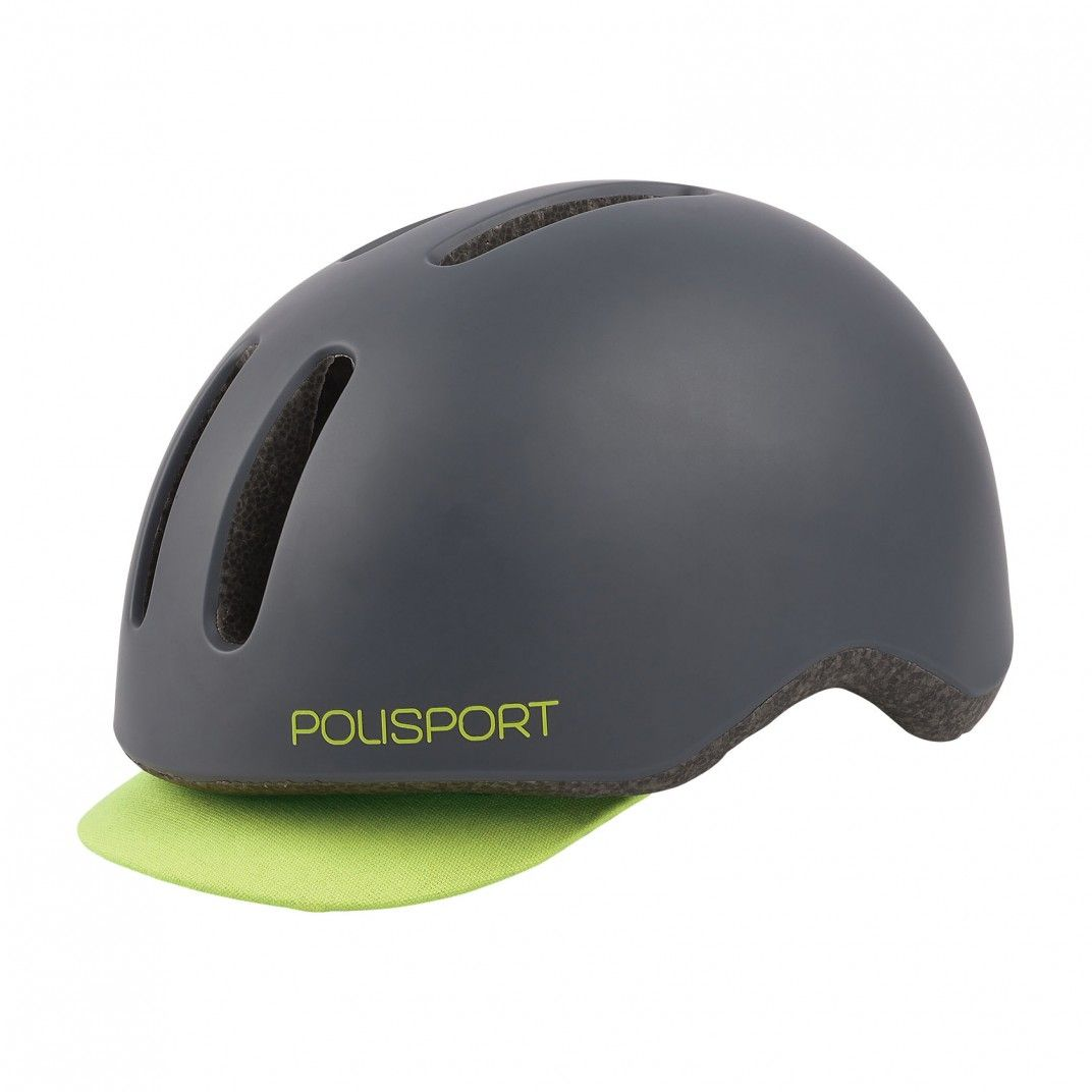 Commuter - Urban Helmet with Rear Led Light Dark Grey and Flo Yellow - M Size