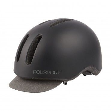 Commuter - Urban Helmet with Rear Led Light Black and Grey - M Size