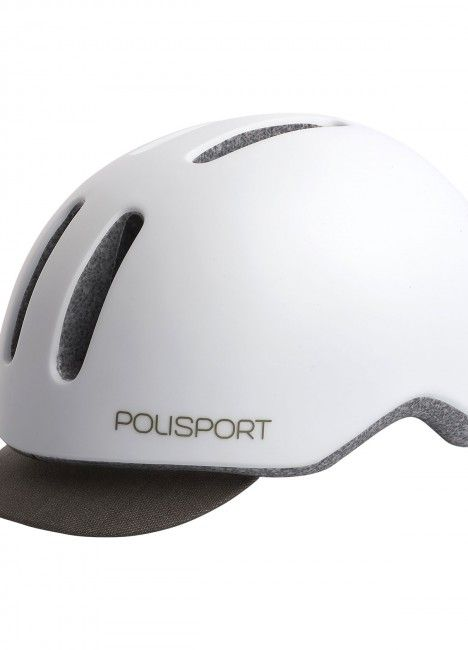 Commuter - Urban Helmet with Rear Led Light White and Grey - M Size