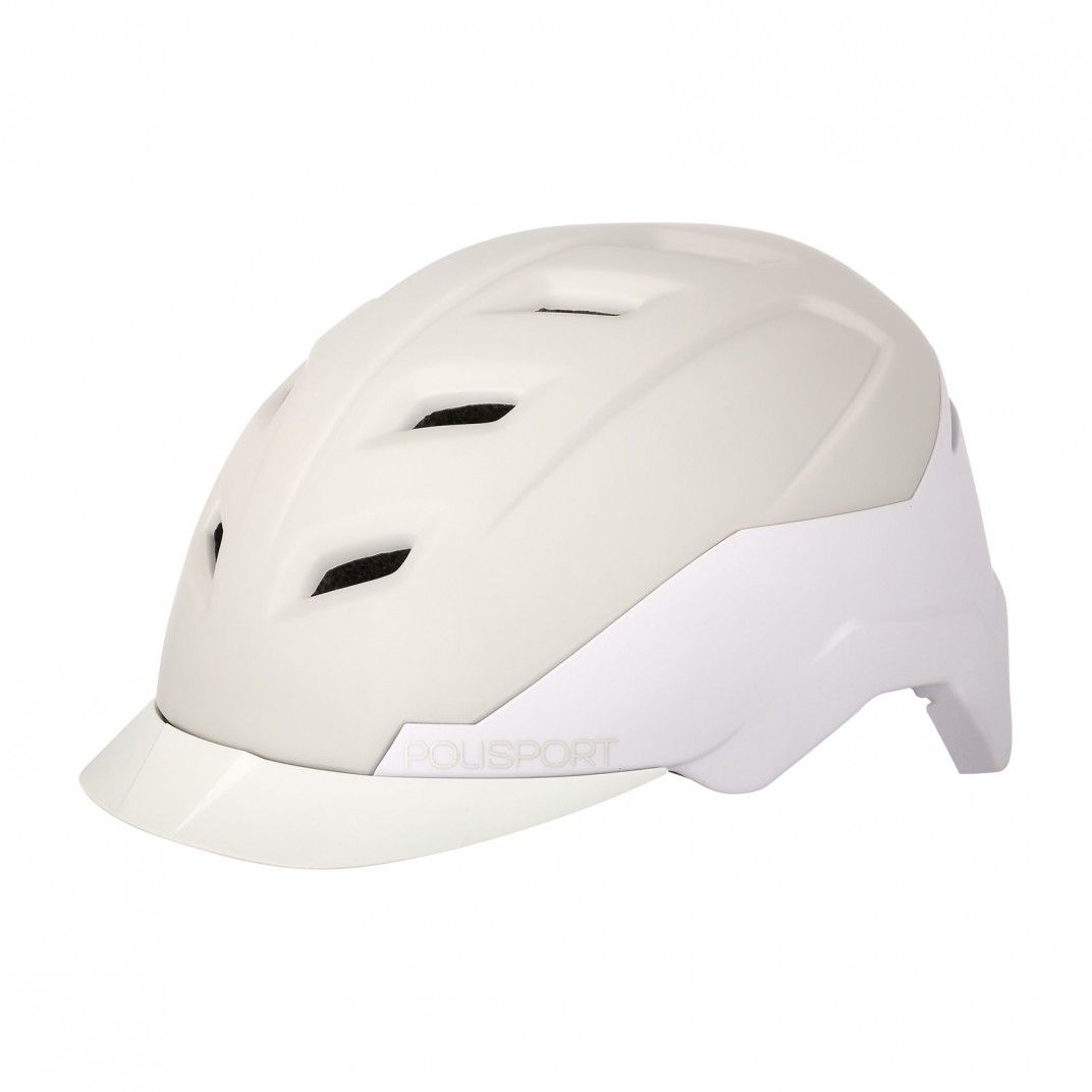 E-City - City Helmet for E-Bikes Cream and White - M Size