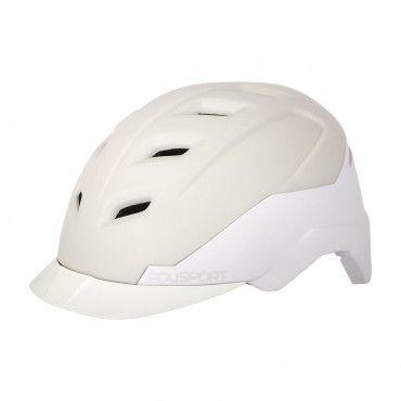 E-City - Erwachsenen Helm für E-Bikes Creme und Weiss - Größe L