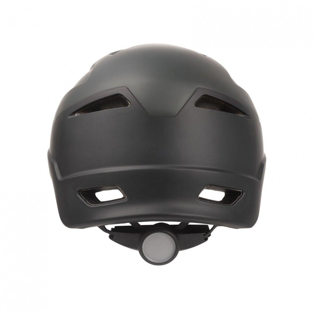 E-City - Casco de Adulti per E-bike Nero e Grigio - Taglia M