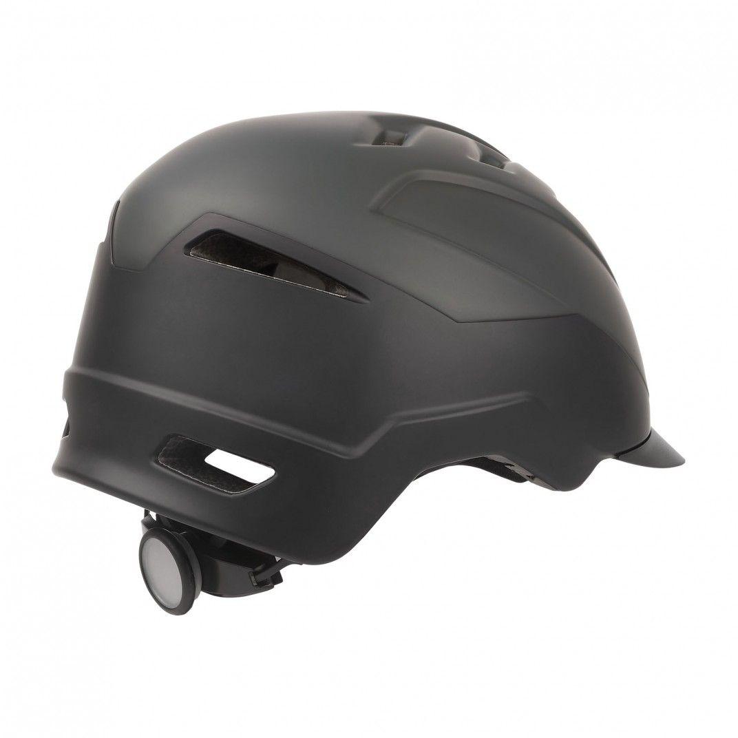 E-City - Casco para E-Bikes Negro y Gris - Talla L