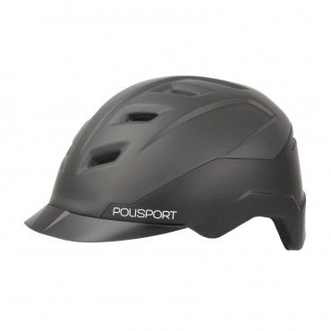 E-City - City Helmet for E-Bikes Black and Dark Grey - L Size