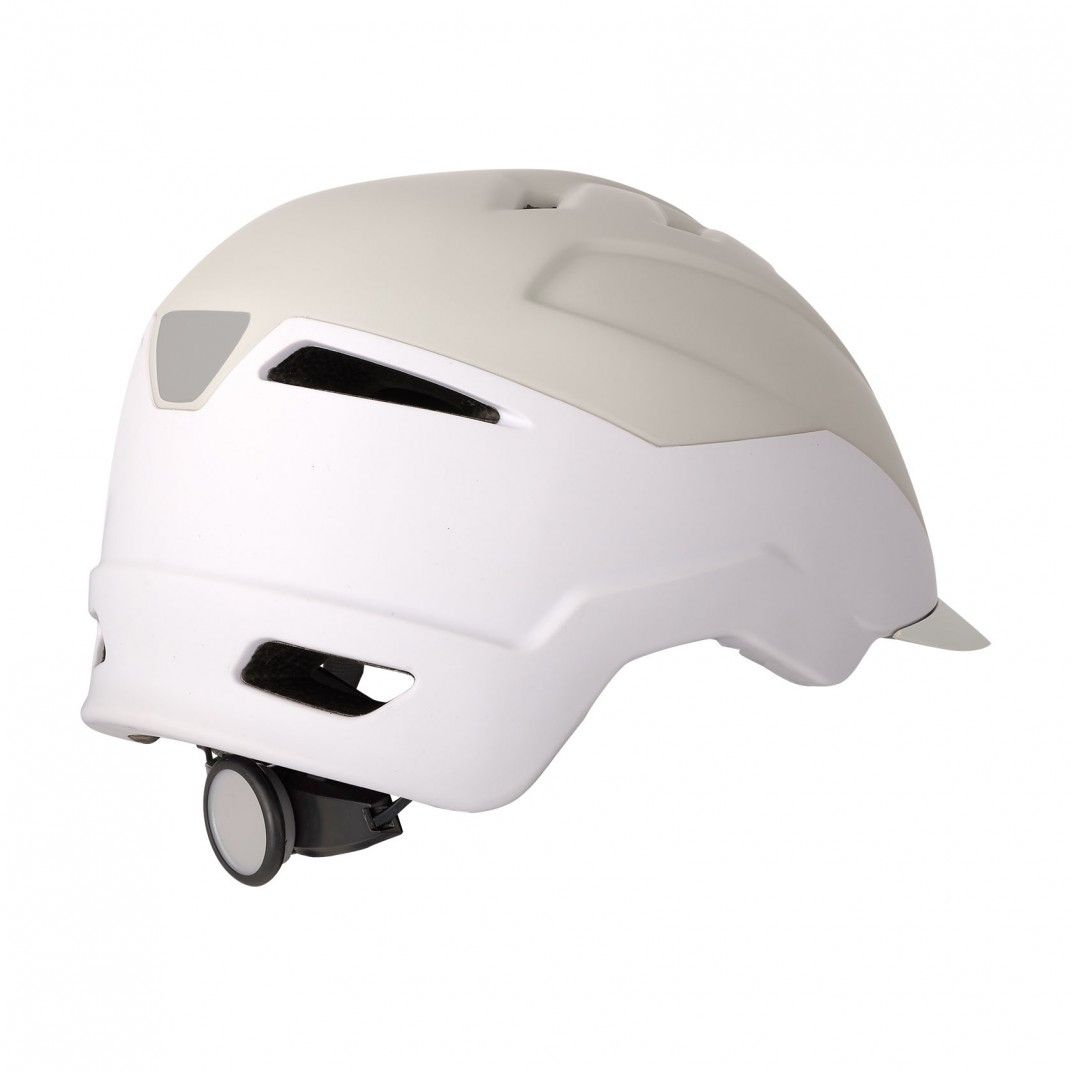 E-City - Casque pour Vélos Électriques Crème et Blanc - Taille L