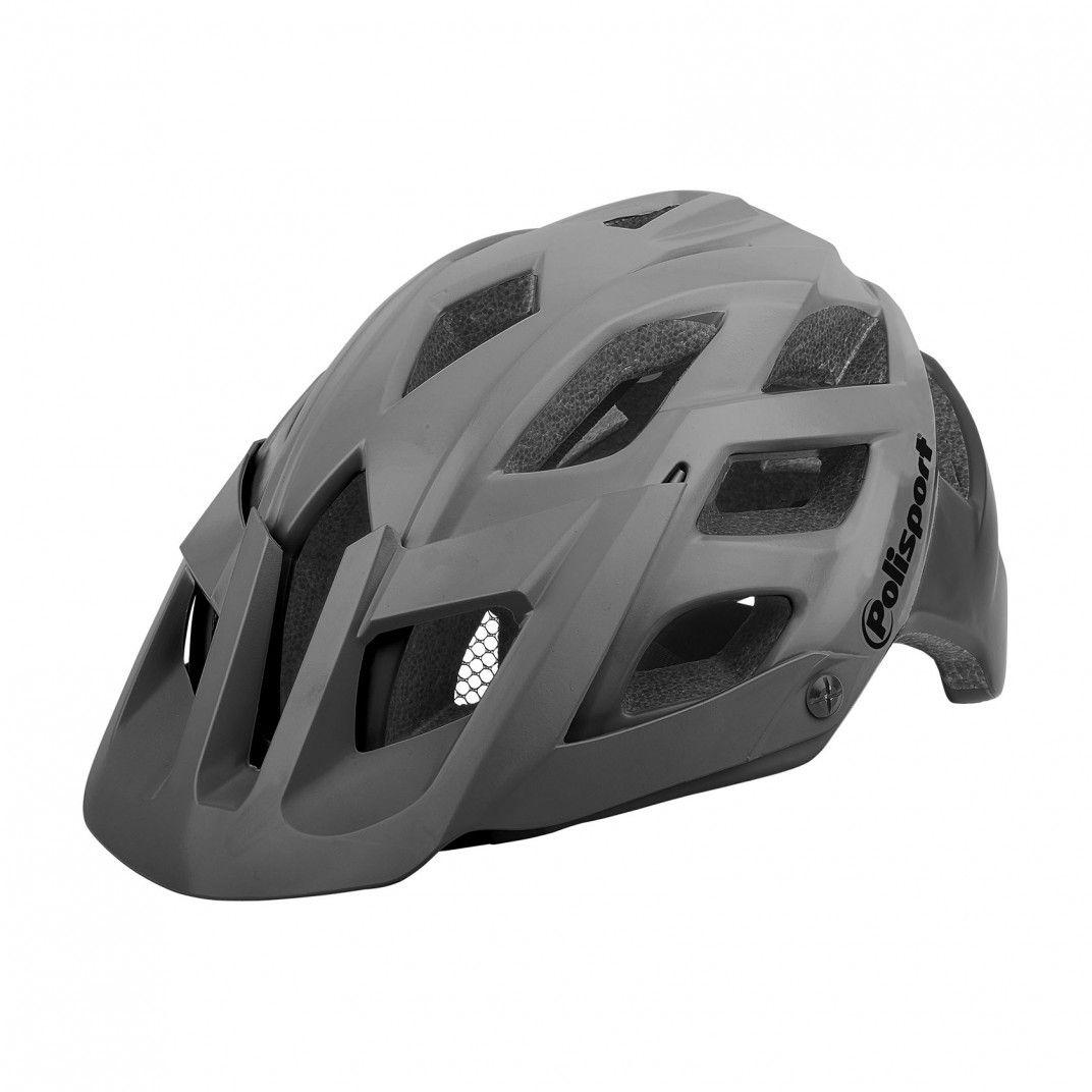 E3 - Fahrradhelm für MTB und Enduro Grau - Größe L
