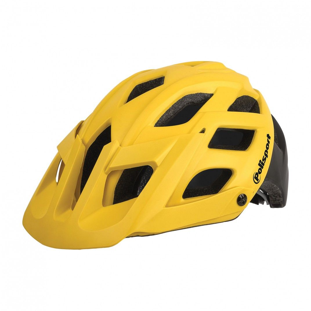 E3 - Capacete para MTB Amarelo e Preto - Tamanho M