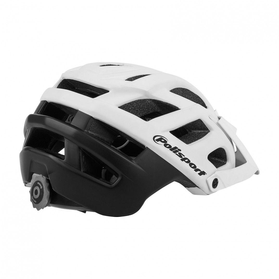 E3 - Casco de Bicicleta para MTB e Enduro Blanco y Negro - Talla L