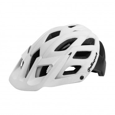 E3 - MTB Extreme and Enduro Helmet White and Black - L Size