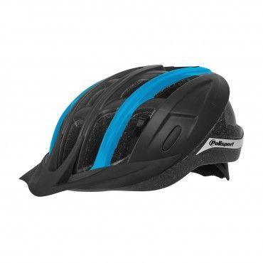 Ride In - Casco per MTB e Trekking Nero e Blu - Taglia M