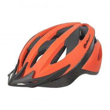 Sport Ride - Casco de Bicicleta para MTB y Trekking Naranja y Negro - Talla M
