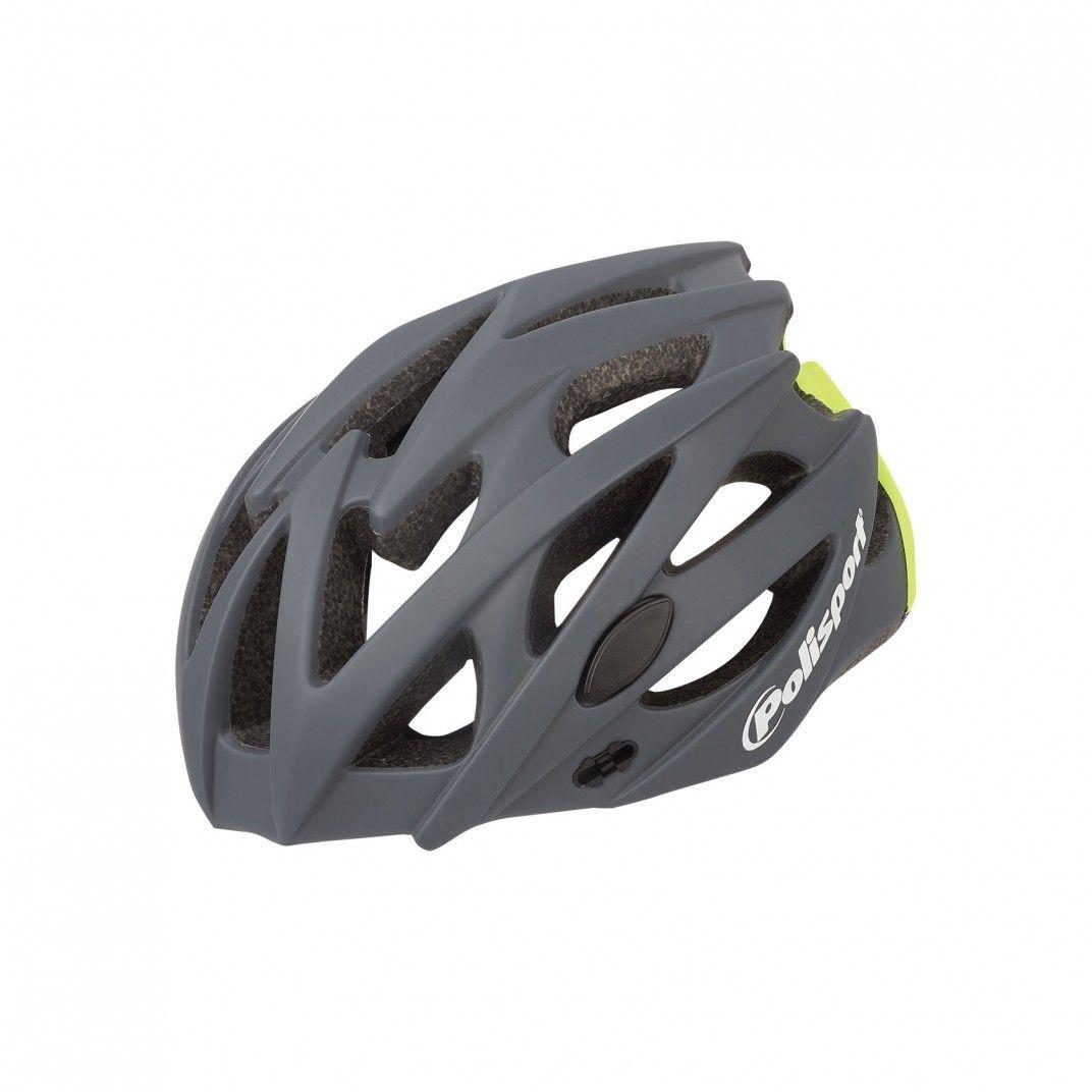 Twig - Capacete para Estrada e MTB Cinzento Escuro e Amarelo Fluo - Tamanho L