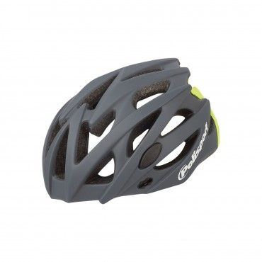 Twig - Road and MTB Helmet Dark Grey and Flo Yellow - M Size