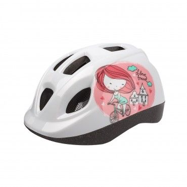 XS Kids - Bicycle Helmet for Kids White and Pink
