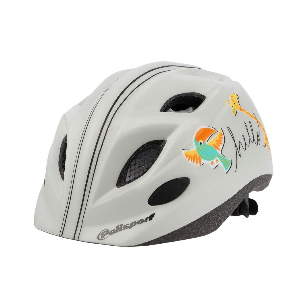 XS Kids Premium - Bicycle Helmet for Kids Cream and Orange