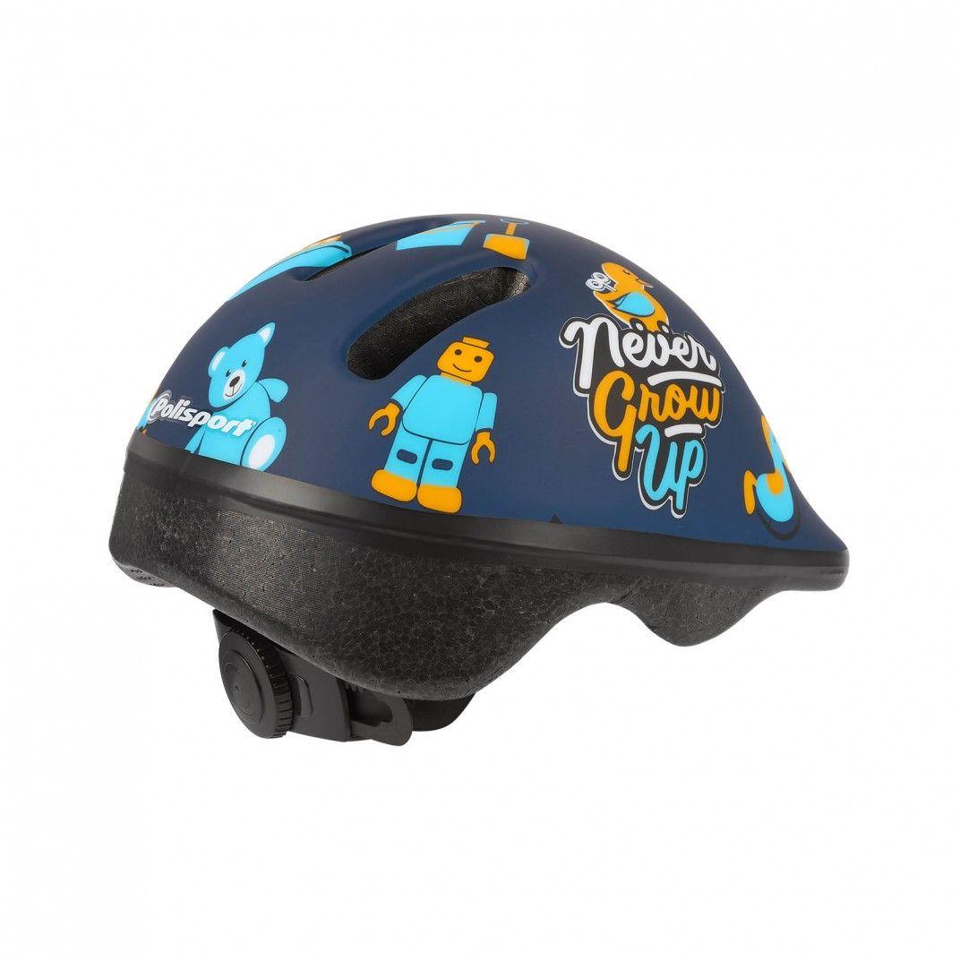 XXS Baby - Casco de Bebé para Bicicleta Azul y Amarillo