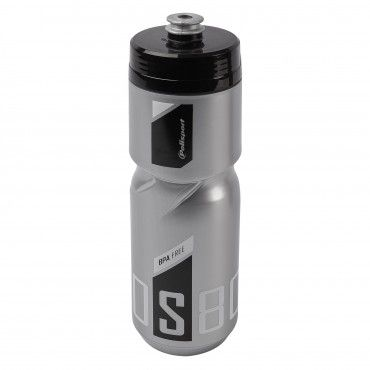 Screw-On Bottle S800 Silver and Black