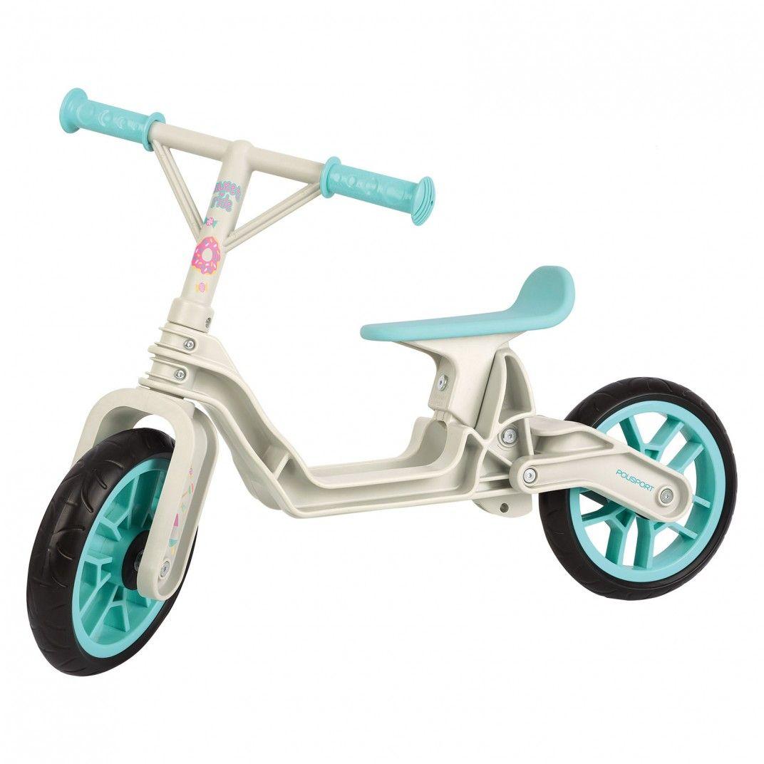 Balance Bike - Bicicleta Infantil de Aprendizagem Bege e Verde Menta