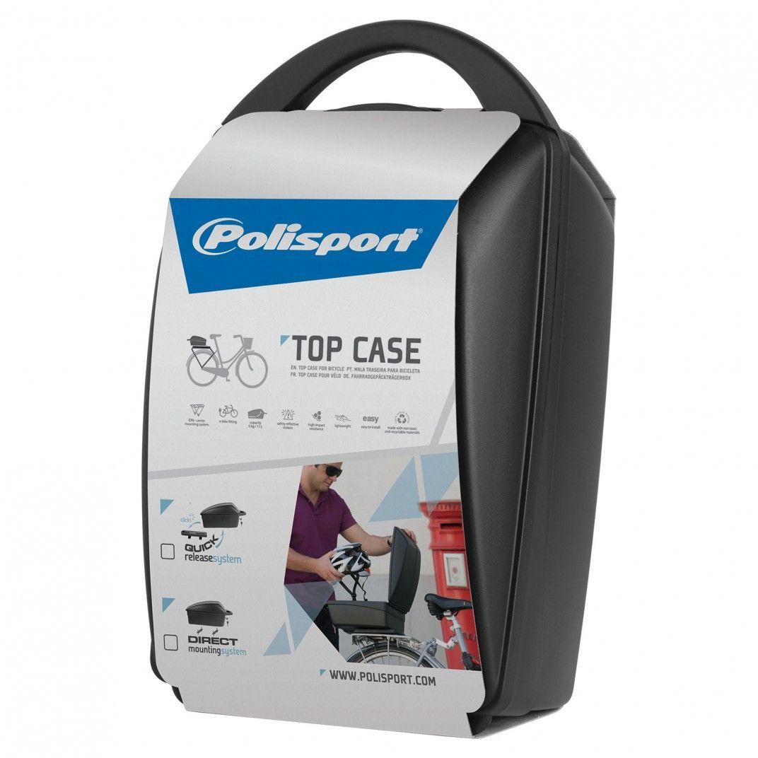 Top Case - Caja de Bicicleta para Portaequipajes con Sistema de Montaje Direto