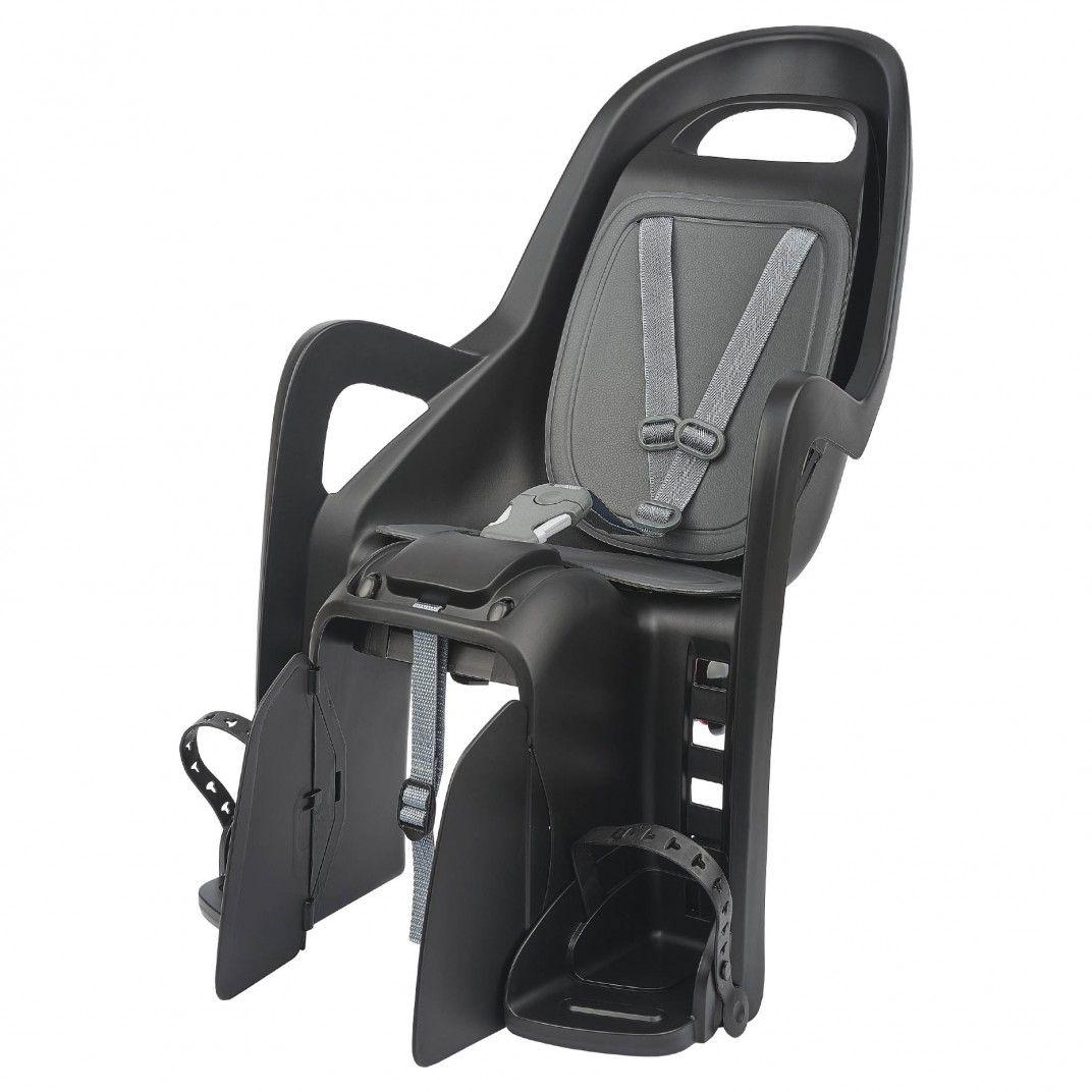 Groovy CFS - Siège de Vélo Noir pour Fixation au Porte-bagages