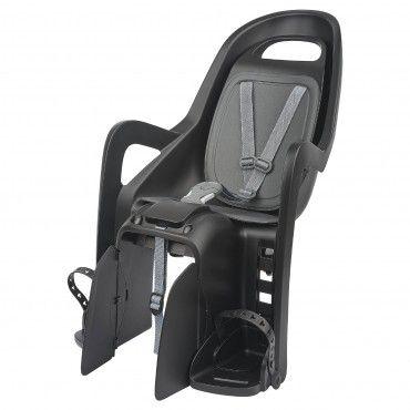 Groovy CFS - Cadeira para Bicicleta com Fixação ao Porta-Bagagem Preta e Cinzenta
