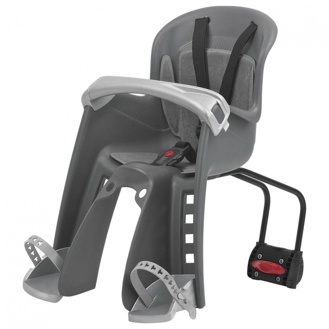 Bilby Junior FF - Cadeira para Bicicleta de Fixação ao Quadro Cinzenta