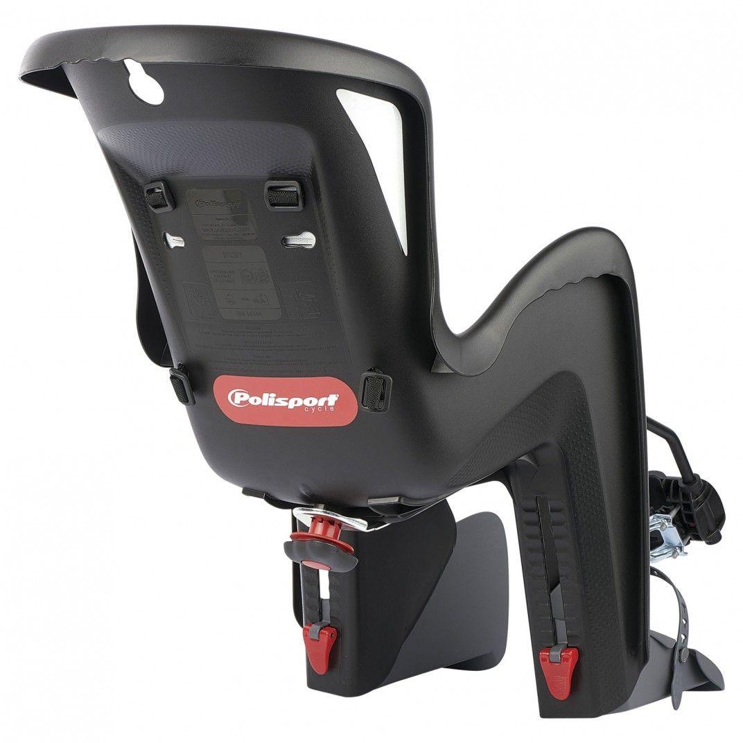 Bilby Maxi FF - Rear Child Bicycle Seat Black and Dark Grey for Frames