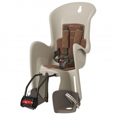 Bilby Maxi FF - Rear Child Bicycle Seat Cream and Brown for Frames