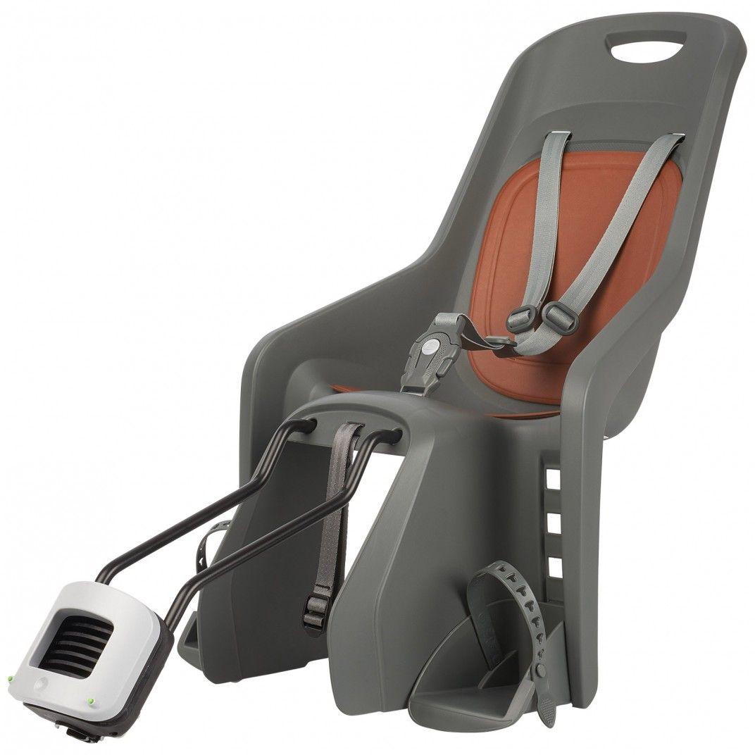 Bubbly Maxi - Cadeira para Bicicleta para Quadros Pequenos e Rodas 29'' Cinzenta e Castanha