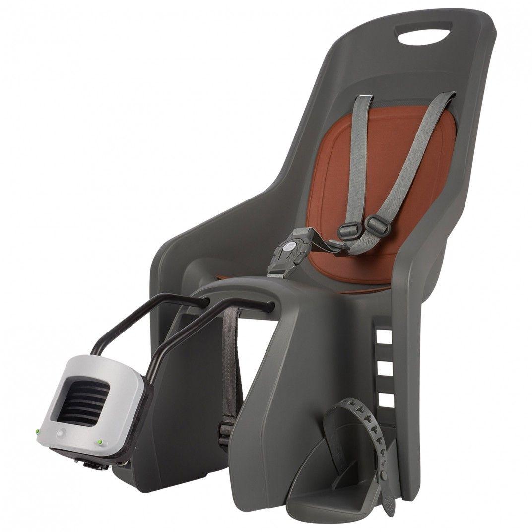 Bubbly Maxi FF - Cadeira para Bicicleta de Fixação ao Quadro Cinzenta e Castanha