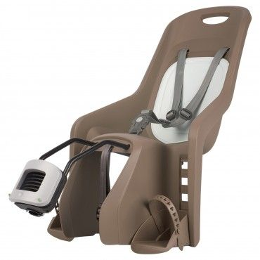 Bubbly Maxi FF - Rear Child Bicycle Seat Brown and Pastel Green