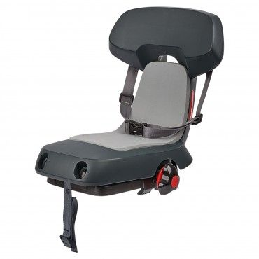 Guppy Junior - Child Bike Seat Dark Grey for Kids Up to 35Kg