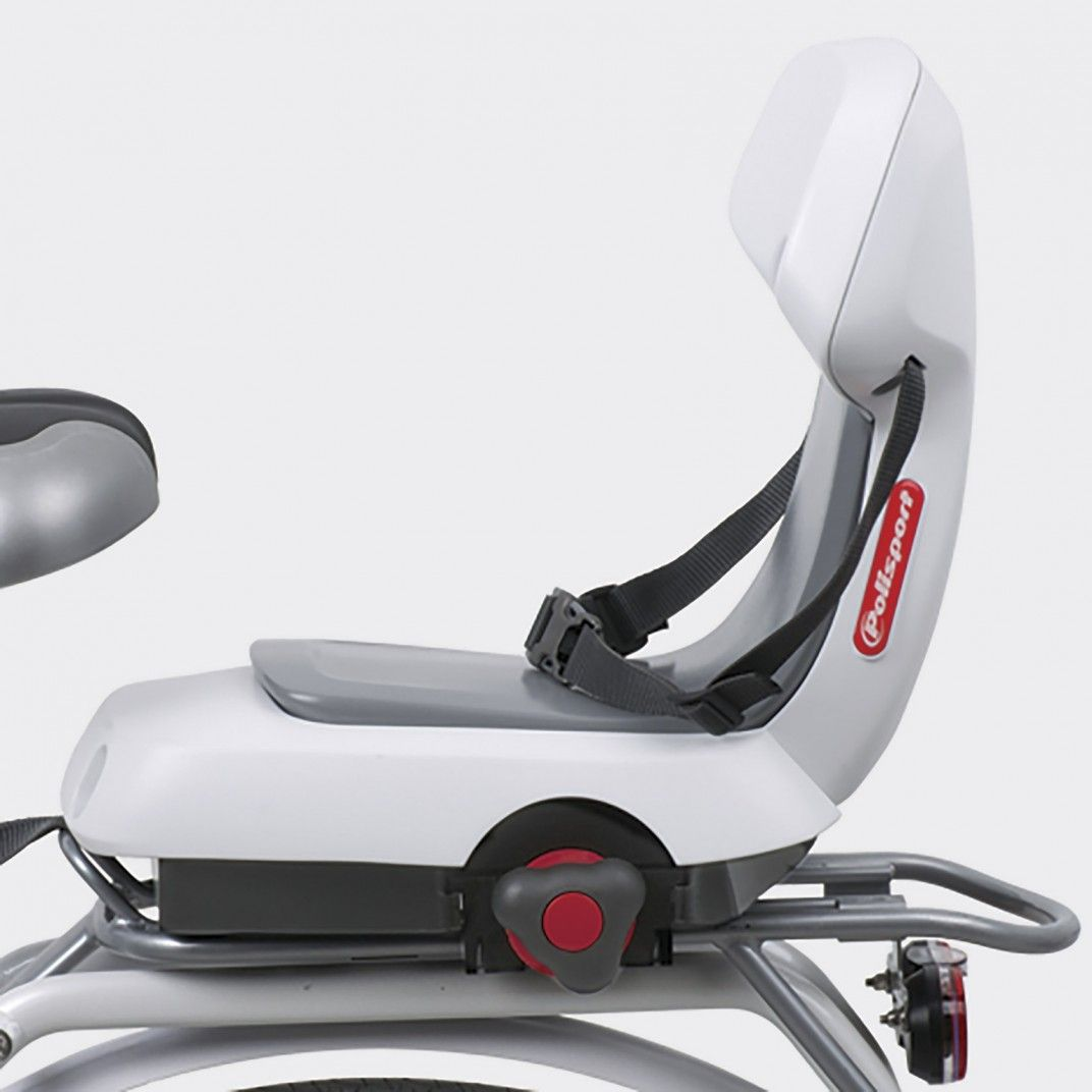 Guppy Junior - Child Bike Seat White for Kids Up to 35Kg
