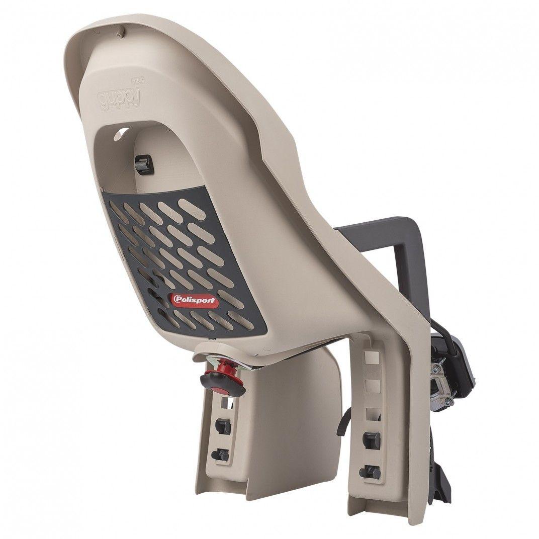 Guppy FF - Cadeira Traseira para Bicicleta Bege e Cinzenta - Para Crianças entre 9 e 22Kg