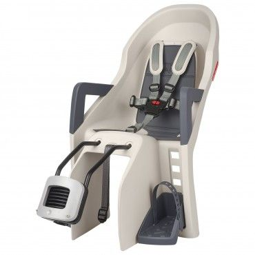 Guppy FF - Rear Child Bicycle Seat Cream and Grey