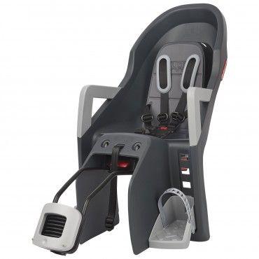 Guppy Maxi RS Plus - Cadeira Traseira Cinzenta para Bicicleta Reclinável
