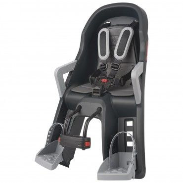 Guppy Mini - Child Baby Seat Dark Grey and Silver with Front Mounting System