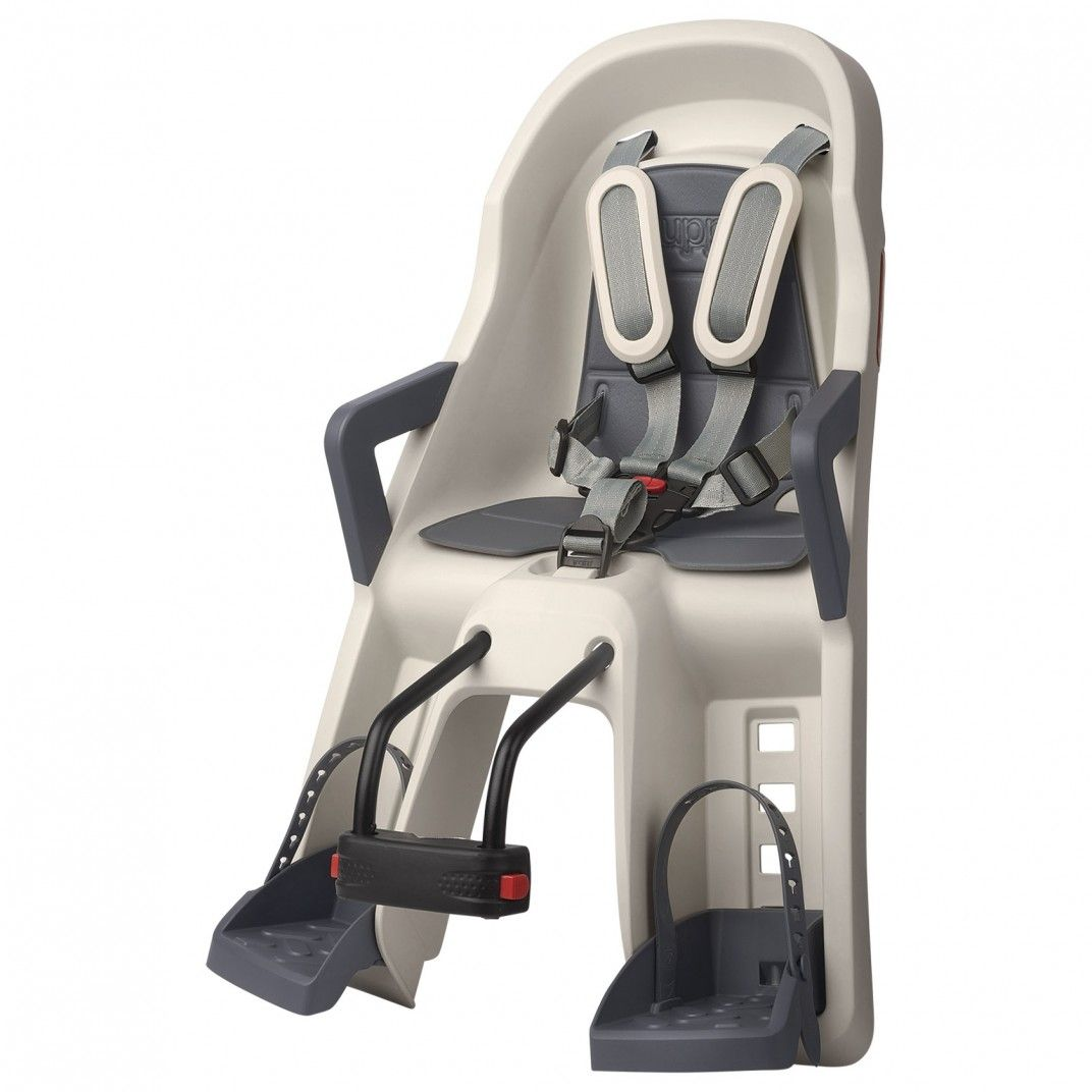 Guppy Mini - Child Baby Seat Cream and Grey with Front Mounting System