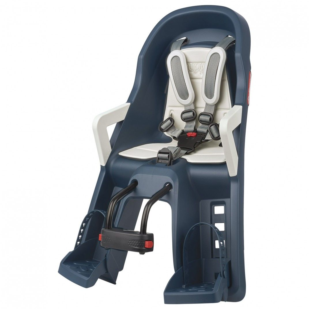 Guppy Mini - Child Baby Seat Blue and Cream with Front Mounting System