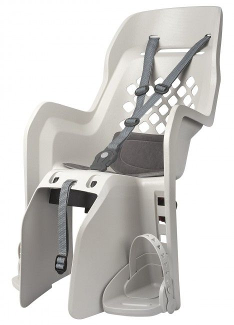 Joy CFS - Child Bicycle Seat for Carriers Cream and Dark Grey