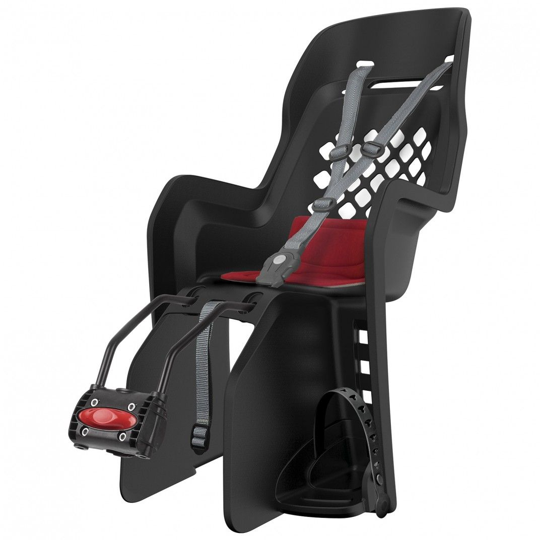 Joy FF - Child Bicycle Seat for Rear Child Seat Black and Red