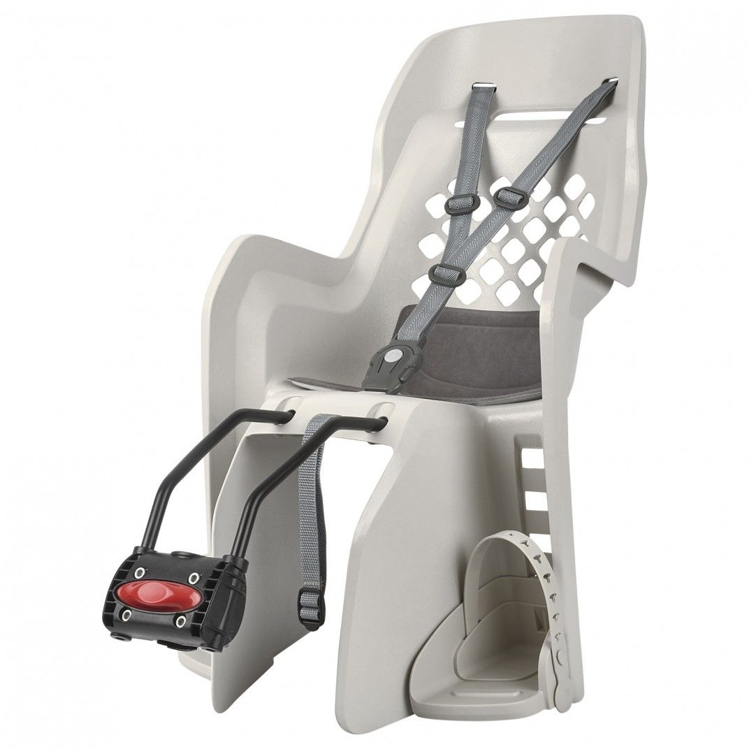 Joy FF - Child Bicycle Seat for Rear Child Seat Cream and Dark Grey