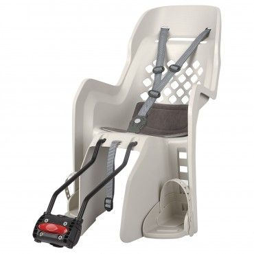 Joy 29'' - Child Bicycle Seat for Small Frames and 29Ers Cream and Dark Grey