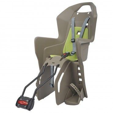Koolah - Cadeira para Bicicleta de Quadros Pequenos e Rodas 29'' Castanha e Verde
