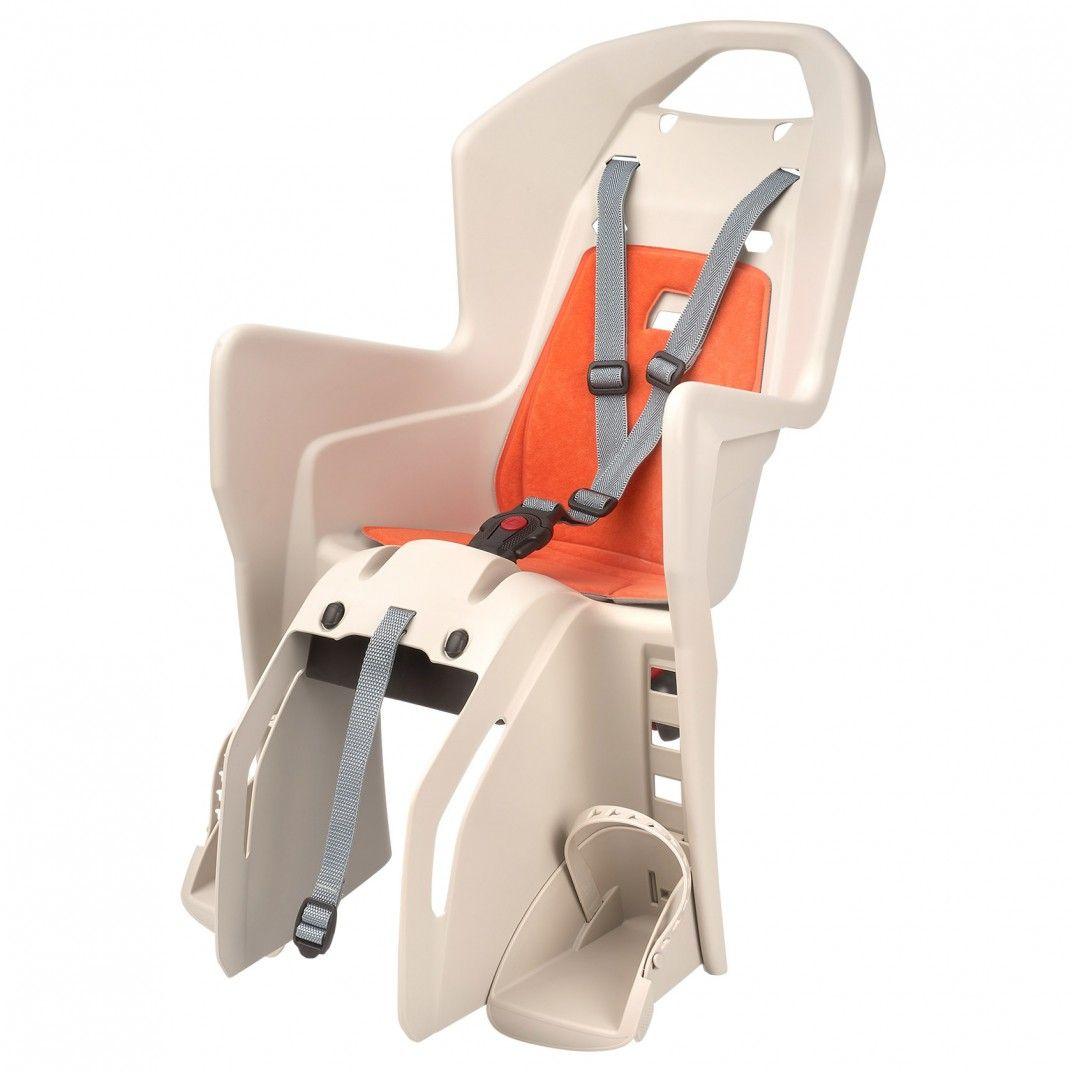 Koolah CFS - Cadeira para Bicicleta de Fixação ao Porta-Bagagem Bege e Laranja