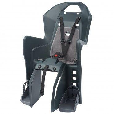 Koolah RMS - Cadeira para Bicicleta de Fixação ao Porta-Bagagem Cinzenta